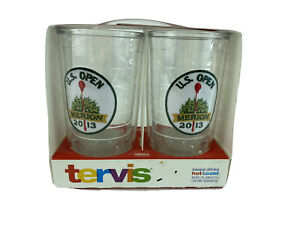 New U.S. OPEN 2013 MERION Tervis 16 oz Tumbers Pack of 2 Made in USA Hot & Cold