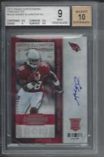 ANDRE ELLINGTON 2013 CONTENDERS CRACKED ICE ON CARD AUTO RC #D 13/21 BGS 9 10 AU