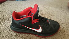 Men's red and black LeBron shoes size 10