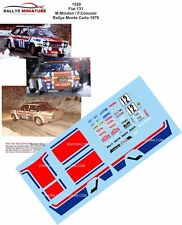 DECALS 1/43 REF 1529 FIAT 131 ABARTH MOUTON RALLYE MONTE CARLO 1979 RALLY WRC