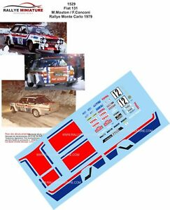 DECALS 1/24 REF 1529 FIAT 131 ABARTH MOUTON RALLYE MONTE CARLO 1979 RALLY WRC