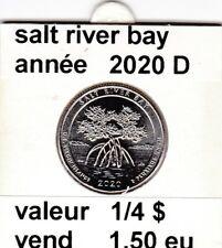 pièces de 1/4 $  salt river bay 2020 D