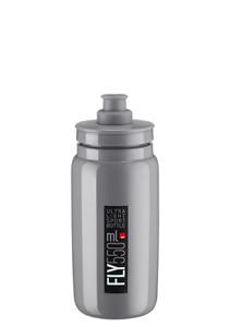 New Elite FLY Cycling Water Bottle 550 ML - Grey / Black