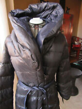 NWT TAHARI Marla Black Navy Puffer Coat in Size Large
