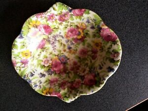 LARGE ROYAL WINTON SUMMERTIME CHINTZ POTTERY DISH BOWL GRIMWADES ENGLAND