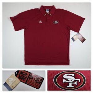 VTG Adidas Pro Line San Francisco 49ers NFL Sideline Players Coach Polo XL NWT