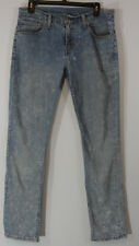 Levis Mens 511 Jeans Size 31x32 Slim Fit Acid Wash Stretch Light Blue Denim