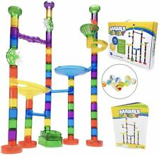Marble Run Sets for Kids Activities - Marble Galaxy Fun Run Set Game Translucent
