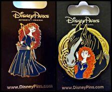 BRAVE lot of 2 Disney Park Pins MERIDA full body + Merida w/ horse - NEW