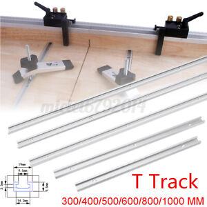 Aluminum Alloy 300-1220mm T-Track Woodworking T-Slot Track Stop Workshop Tools