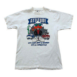 Attitude Duck Sunglasses and Sneakers Vintage 90s USA Funny Cartoon T-Shirt