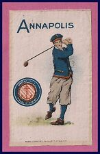 ANTIQUE 1910 United States Naval Academy Murad Tobacco Silk GOLF!