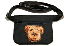 Border terrier gift - Embroidered Dog treat pouch/bag - for dog shows&training.
