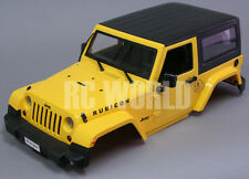 RC Scale Truck Body Shell 1/10 JEEP WRANGLER RUBICON Hard Body + INTERIOR Yellow