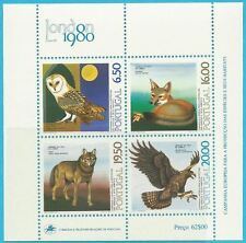 Portugal aus 1980** postfrisch Block 30 MiNr.1490-1493 - Artenschutz: Eule...