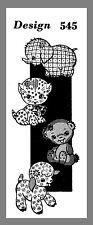 Vintage Animal Elephant Bear Cat & Lamb  Cuddle Toy Fabric sewing  pattern # 545