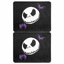 2 pc Nightmare Before Christmas Jack Skellington Rear Rubber Floor Mats Set New