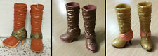 Barbie My Scene Doll Shoes Bling Metallic Chunky High Heel Boots Rare - CHOOSE