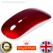2.4GHz Wireless Cordless Red Mouse Mice Optical Scroll+DPI Laptop Computer + USB