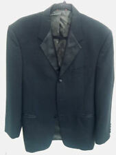 PIERRE CARDIN BLK TUXEDO JACKET 37R 100% WOOL SATIN LAPEL & BUTTONS