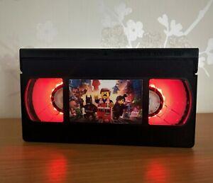 Lego Movie Retro VHS LED Night Light, Desk Lamp, PlayStation, Bedroom Lamp