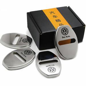 Car Accessories Door Lock Striker Cover Protector Stainless Steel For Volkswagen