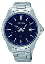 Seiko Stainless Steel Case Adult Watches with 12-Hour Dial