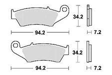 Jeu 2 plaquette de frein Avant de qualité HM CRE 125 250/SM SUPER MOTARD 00-2006