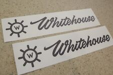 Whitehouse Boat Vintage Decal Die-Cut 2-PAK Black FREE SHIP + FREE Fish Decal!