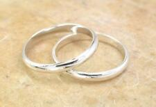 2 STERLING SILVER 2mm WIDE STACKABLE BAND RINGS size 6  style# r1340