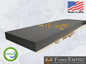 15x47 Firm Rubber Foam Sheet Premium Seats Cushion Upholstery USA MADE - NF33