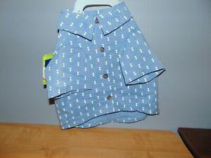 Dog Blue/ White Shirt Size Medium