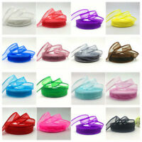 "5yards 1"" (25mm) Satin Edge Organza Ribbon Bow Wedding Decoration Lace Craft New"