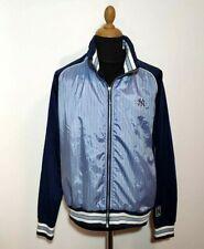 Vintage NY Yankees Jacket Men XXL Majestic Striped Blue New York 2XL Retro Shiny