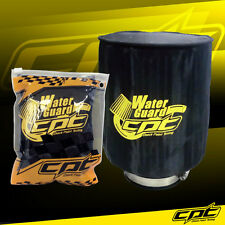 Universal Water Guard Cold Air Intake Pre-Filter Cone Filter Cover Black - Large