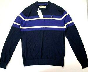 JACK WILLS Knitted Jumper Men's Navy Long Sleeve Knitwear Warmer Top Size M BNWT