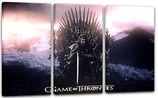 120x80cm Lein-Wand-Bild: Game of Thrones Ned Stark eiserner Thron mit Schwert dü