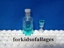 Lego Pieces: Water Bottle & Glass (Drinks, Wine, Soda) Minifigure Accessories