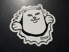 "RIPNDIP Skate Sticker KISS MY CAT ASS Lord Nermal 3.5/"" skateboards helmets decal"