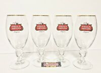Stella Artois Belgium Lager Chalice Glasses Set of Four (4) 40 cl - Brand New!