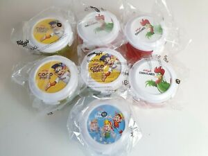 7 X  New Kelloggs Cereal Bowl Resealable Milk Compartment  Spoon Breakfast On Go