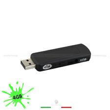 MINI REGISTRATORE AUDIO 4GB 7O ORE REGISTRAZIONE MICRO SPIA CIMICE PENDRIVE USB