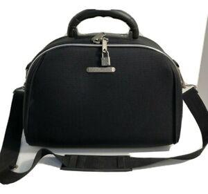 Bon Voyage Paris Black Travel Cosmetics Train Case/ Carry-on Bag Travel Luggage