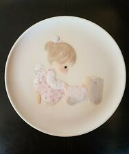 "Precious Moments Collectors Plate "" The Hand That Rocks The Future 1982 no box"