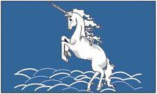Unicorn Flag 3x5 feet Banner Blue Fantasy Wall Decoration Horse 36 x 60 inch