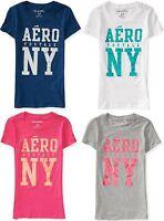 AEROPOSTALE womens AERO LOGO GLITTER T Graphic T-shirt Tee XS,S,M,L,XL,2XL NEW