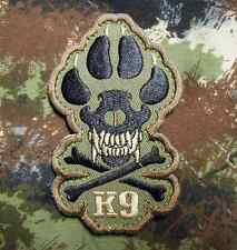 K9 & CROSSBONE KILLER ATTACK POLICE DOG FOREST VELCRO® BRAND FASTENER PATCH