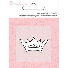 """Imaginisce Little Princess """"Crown"""" Clear Stamp!"""