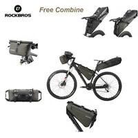 RockBros Waterproof Cycling Travel Bike Bicycle Bag Handlebar Frame Saddle Bag