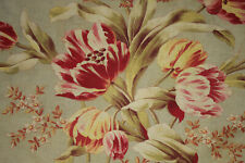 French Floral Fabric 1870 Tulips Roller Printed Cotton